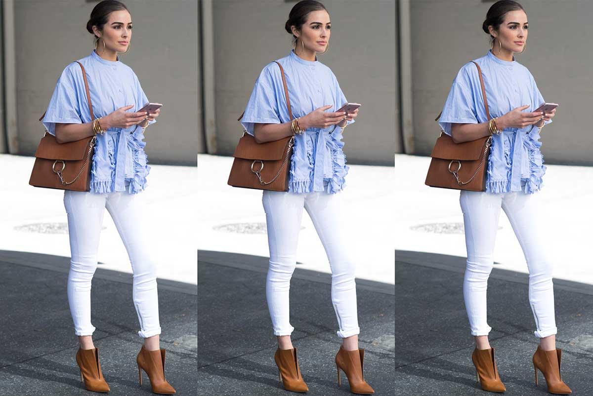 Cum purtam jeansii albi?